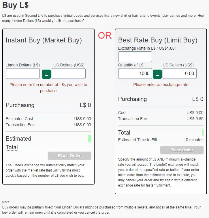 Buy options